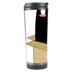 Black Cat In A Box Travel Tumbler by Catifornia
