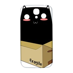 Black Cat In A Box Samsung Galaxy S4 I9500/i9505  Hardshell Back Case by Catifornia