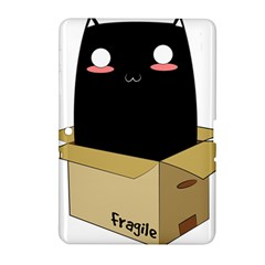 Black Cat In A Box Samsung Galaxy Tab 2 (10 1 ) P5100 Hardshell Case  by Catifornia