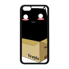 Black Cat In A Box Apple Iphone 5c Seamless Case (black) by Catifornia