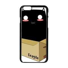 Black Cat In A Box Apple Iphone 6/6s Black Enamel Case by Catifornia