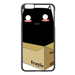 Black Cat In A Box Apple Iphone 6 Plus/6s Plus Black Enamel Case by Catifornia