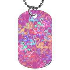 Flamingo Pattern Dog Tag (two Sides) by Valentinaart