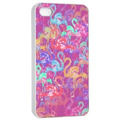 Flamingo Pattern Apple Iphone 4/4s Seamless Case (white) by Valentinaart