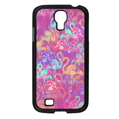 Flamingo Pattern Samsung Galaxy S4 I9500/ I9505 Case (black) by Valentinaart