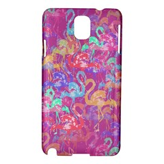Flamingo Pattern Samsung Galaxy Note 3 N9005 Hardshell Case by Valentinaart