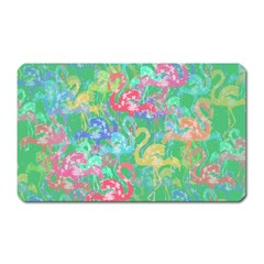 Flamingo Pattern Magnet (rectangular) by Valentinaart
