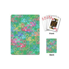 Flamingo Pattern Playing Cards (mini)  by Valentinaart