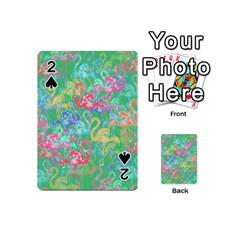Flamingo Pattern Playing Cards 54 (mini)  by Valentinaart