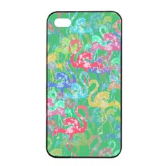 Flamingo Pattern Apple Iphone 4/4s Seamless Case (black) by Valentinaart