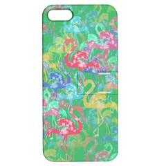 Flamingo Pattern Apple Iphone 5 Hardshell Case With Stand by Valentinaart