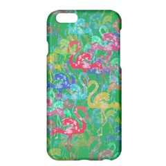 Flamingo Pattern Apple Iphone 6 Plus/6s Plus Hardshell Case by Valentinaart