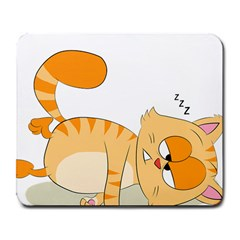 Even Cat Hates Monday Large Mousepads
