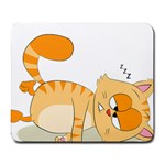 Even Cat Hates Monday Large Mousepads Front