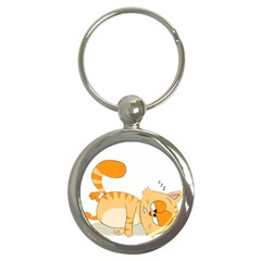 Even Cat Hates Monday Key Chains (round)  by Catifornia
