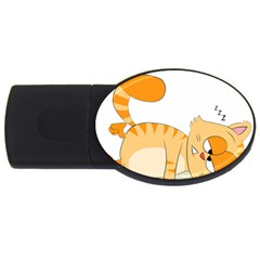 Even Cat Hates Monday Usb Flash Drive Oval (2 Gb) by Catifornia