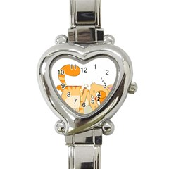 Even Cat Hates Monday Heart Italian Charm Watch by Catifornia