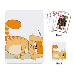 Even Cat Hates Monday Playing Card by Catifornia
