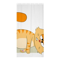 Even Cat Hates Monday Shower Curtain 36  X 72  (stall)  by Catifornia