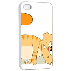 Even Cat Hates Monday Apple Iphone 4/4s Seamless Case (white) by Catifornia