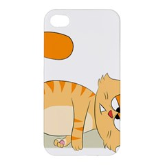 Even Cat Hates Monday Apple Iphone 4/4s Hardshell Case by Catifornia