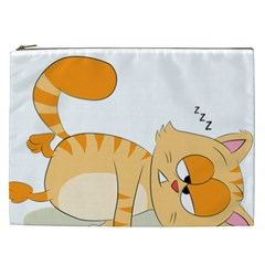 Even Cat Hates Monday Cosmetic Bag (xxl)  by Catifornia
