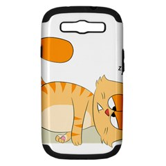Even Cat Hates Monday Samsung Galaxy S Iii Hardshell Case (pc+silicone) by Catifornia