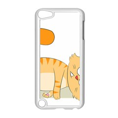 Even Cat Hates Monday Apple Ipod Touch 5 Case (white) by Catifornia