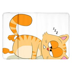 Even Cat Hates Monday Samsung Galaxy Tab 8 9  P7300 Flip Case by Catifornia