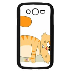 Even Cat Hates Monday Samsung Galaxy Grand Duos I9082 Case (black) by Catifornia