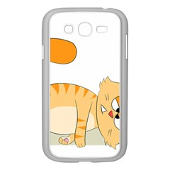 Even Cat Hates Monday Samsung Galaxy Grand Duos I9082 Case (white) by Catifornia