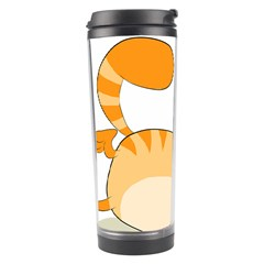 Even Cat Hates Monday Travel Tumbler by Catifornia