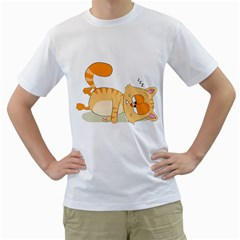 Even Cat Hates Monday Men s T Shirt (white)  by Catifornia