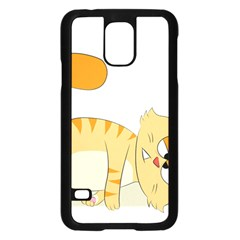 Even Cat Hates Monday Samsung Galaxy S5 Case (black) by Catifornia