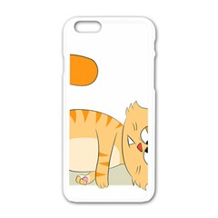 Even Cat Hates Monday Apple Iphone 6/6s White Enamel Case by Catifornia