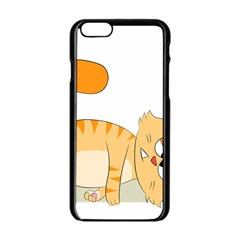 Even Cat Hates Monday Apple Iphone 6/6s Black Enamel Case by Catifornia