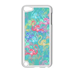 Flamingo Pattern Apple Ipod Touch 5 Case (white) by Valentinaart