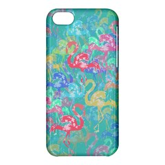 Flamingo Pattern Apple Iphone 5c Hardshell Case by Valentinaart