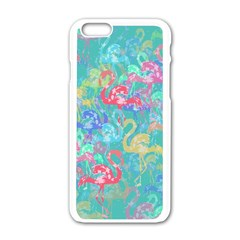 Flamingo Pattern Apple Iphone 6/6s White Enamel Case