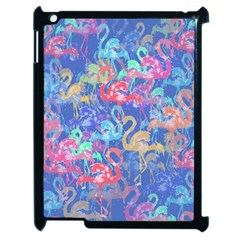 Flamingo Pattern Apple Ipad 2 Case (black) by Valentinaart