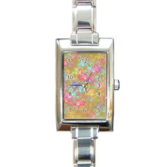 Flamingo Pattern Rectangle Italian Charm Watch by Valentinaart