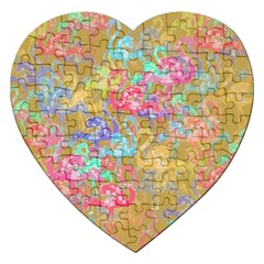 Flamingo Pattern Jigsaw Puzzle (heart) by Valentinaart