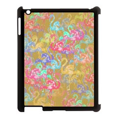 Flamingo Pattern Apple Ipad 3/4 Case (black) by Valentinaart