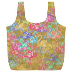 Flamingo Pattern Full Print Recycle Bags (l)