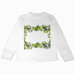 Birthday Card Flowers Daisies Ivy Kids Long Sleeve T Shirts