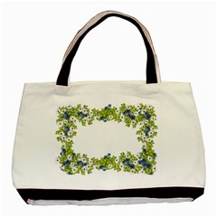 Birthday Card Flowers Daisies Ivy Basic Tote Bag (two Sides) by Nexatart