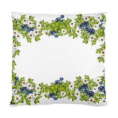 Birthday Card Flowers Daisies Ivy Standard Cushion Case (one Side) by Nexatart