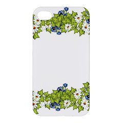 Birthday Card Flowers Daisies Ivy Apple Iphone 4/4s Premium Hardshell Case
