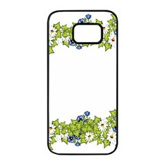 Birthday Card Flowers Daisies Ivy Samsung Galaxy S7 Edge Black Seamless Case