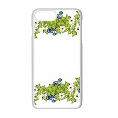 Birthday Card Flowers Daisies Ivy Apple Iphone 7 Plus White Seamless Case by Nexatart